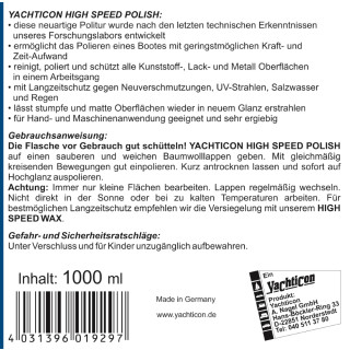 High Speed Polish 1000 ml